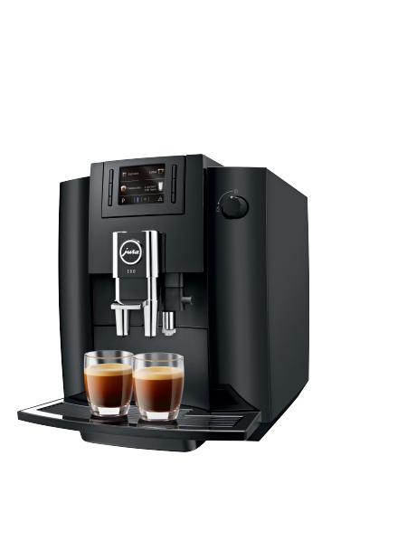 JURA E60 Piano Black 2 x espresso